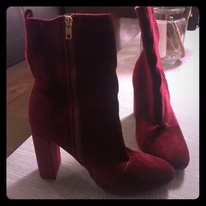 These velvety booties are everything!!!